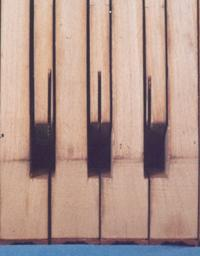 underside of a harpsichord keyboard